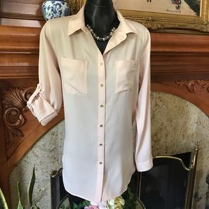 NWT Blush Long Tunic Button Down Top